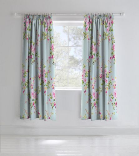 Catherine Lansfield Canterbury Multi Pencil Pleat Curtains